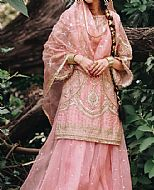 Pink Organza Suit- Pakistani Formal Designer Dress