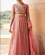 Tea Pink Chiffon Suit- Pakistani Bridal Dress