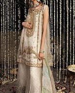 Off-white Organza Suit- Pakistani Formal Designer Dress