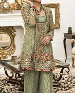 Pistachio Organza Suit- Pakistani Formal Designer Dress