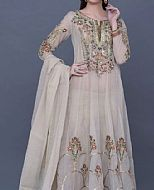 Ivory Crinkle Chiffon Suit- Pakistani Wedding Dress