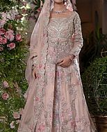 Pink Crinkle Chiffon Suit- Pakistani Bridal Dress