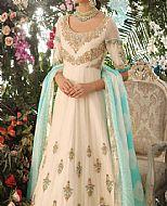 Off-white Crinkle Chiffon Suit- Pakistani Wedding Dress