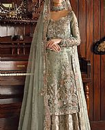 Pistachio Crinkle Chiffon Suit- Pakistani Bridal Dress
