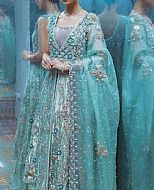 Turquoise Tissue Suit- Pakistani Wedding Dress