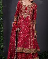 Red Chiffon Suit- Pakistani Wedding Dress
