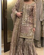Sand Grey Silk Suit- Pakistani Bridal Dress