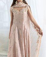 Peach Raw Silk Suit- Pakistani Formal Designer Dress