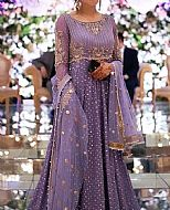 Lavender Chiffon Suit- Pakistani Party Wear Dress
