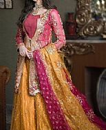 Magenta/Mustard Organza Suit- Pakistani Bridal Dress
