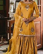 Mustard Silk Suit- Pakistani Party Wear Dress