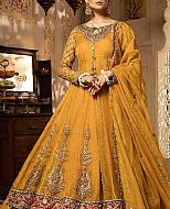Mustard Crinkle Chiffon Suit- Pakistani Wedding Dress