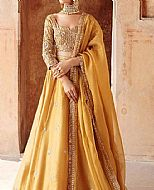 Golden Silk Suit- Pakistani Bridal Dress