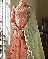 Peach Chiffon Suit- Pakistani Party Wear Dress