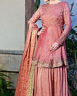 Tea Pink Raw Silk Suit- Pakistani Wedding Dress