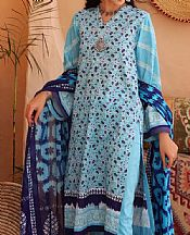 Light Turquoise Lawn Suit (2 Pcs)- Pakistani Lawn Dress