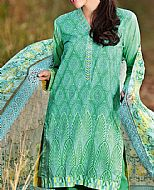 Green Lawn Suit- Pakistani Designer Lawn Dress