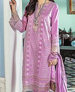 Lavender Cotton Silk Suit- Pakistani Chiffon Dress