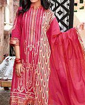 Brink Pink Jacquard Suit- Pakistani Designer Lawn Dress