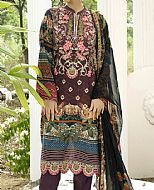 Burgundy Lawn Suit- Pakistani Designer Lawn Dress