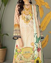 Peach Lawn Suit- Pakistani Designer Lawn Dress