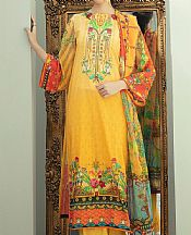 Mustard Lawn Suit- Pakistani Lawn Dress