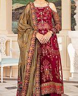 Magenta Chiffon Suit- Pakistani Designer Chiffon Suit
