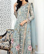 Baby Blue Chiffon Suit- Pakistani Designer Chiffon Suit