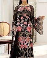 Black Chiffon Suit- Pakistani Designer Chiffon Suit