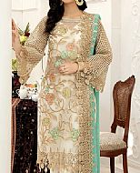 Off-white Chiffon Suit- Pakistani Designer Chiffon Suit