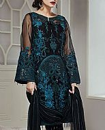 Black/Turquoise Chiffon Suit