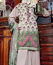 Green/Baby Pink Lawn Suit- Pakistani Lawn Dress