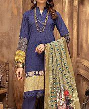 Midnight Blue Lawn Suit- Pakistani Designer Lawn Dress