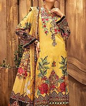 Yellow Lawn Suit- Pakistani Designer Lawn Dress