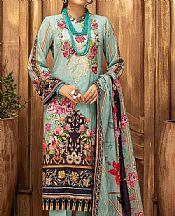 Turquoise Lawn Suit- Pakistani Lawn Dress