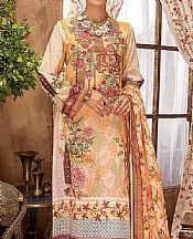 Peach/Ivory Lawn Suit- Pakistani Lawn Dress