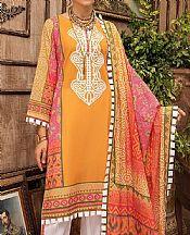 Sand Gold Lawn Suit- Pakistani Designer Lawn Dress