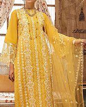 Mustard Lawn Suit- Pakistani Designer Lawn Dress