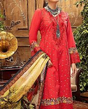 Ruby Red Lawn Suit- Pakistani Designer Lawn Dress