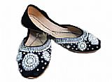 Ladies Khussa- Black- Pakistani Khussa Shoes