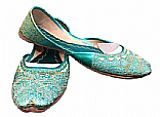 Ladies Khussa- Turquoise- Khussa Shoes for Women