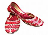 Ladies Khussa- Red- Pakistani Khussa Shoes