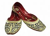 Ladies Khussa- Golden- Khussa Shoes for Women