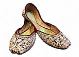 Ladies Khussa- Golden- Pakistani Khussa Shoes