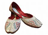 Ladies Khussa- Silver- Pakistani Khussa Shoes