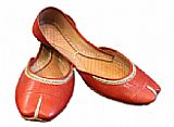 Ladies Khussa- Safty Orange- Pakistani Khussa Shoes