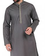 Dark Grey Men Shalwar Kameez