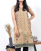 Beige Lawn Kurti- Pakistani Designer Lawn Dress
