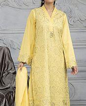 Light Golden Lawn Suit (2 Pcs)- Pakistani Lawn Dress