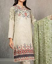 Ivory Lawn Suit (2 Pcs)- Pakistani Designer Lawn Dress